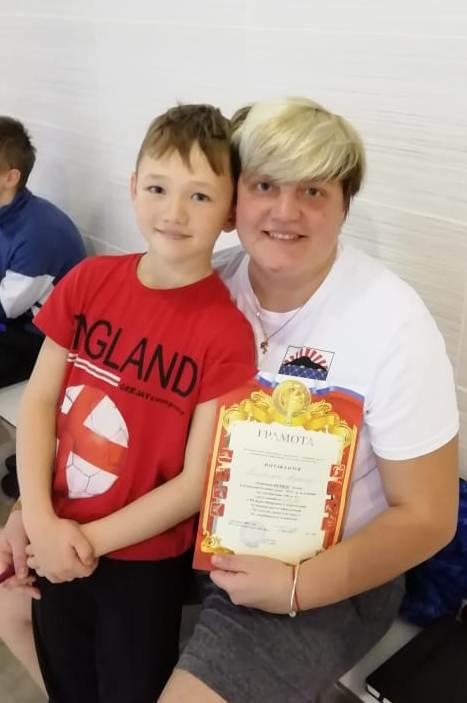 золотой призер Алексей Плэтик с мамой